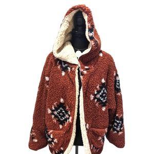 Sweet Rain Reversible, Hooded Sweater Jacket M
